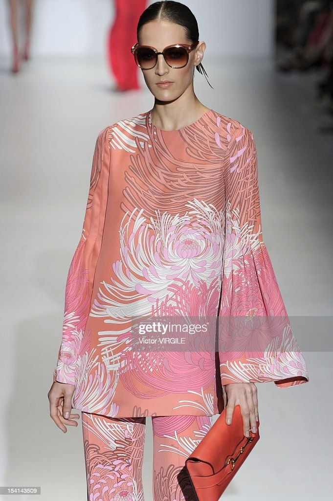 Othilia Simon walks the runway at the Gucci Spring/Summer 2013 fashion show as part of Milan Womenswear Fashion Week on September 19, 2012 in Milan, Italy.