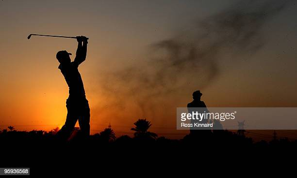 Othman Al Mulla of Saudi Arabia on the par four9th hole during the second round of the Abu Dhabi Golf Championship at the Abu Dhabi Golf Club on...