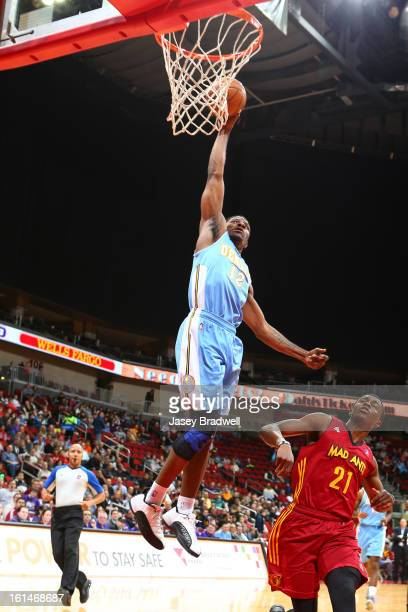 Othyus Jeffers of the Iowa Energy goes up for a dunk against Doron Lamb of the Fort Wayne Mad Ants in an NBA DLeague game on February 9 2013 at the...
