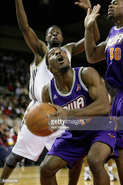 Othyus Jeffers of the Iowa Energy looks to score on the Erie BayHawks at Tullio Arena on December 11 2008 in Erie Pennsylvania The BayHawks defeated...