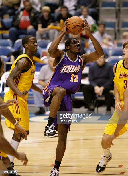 Othyus Jeffers of the Iowa Energy looks to score on the Fort Wayne Mad Ants at Allen County Memorial Coliseum on December 5 2008 in Fort Wayne...
