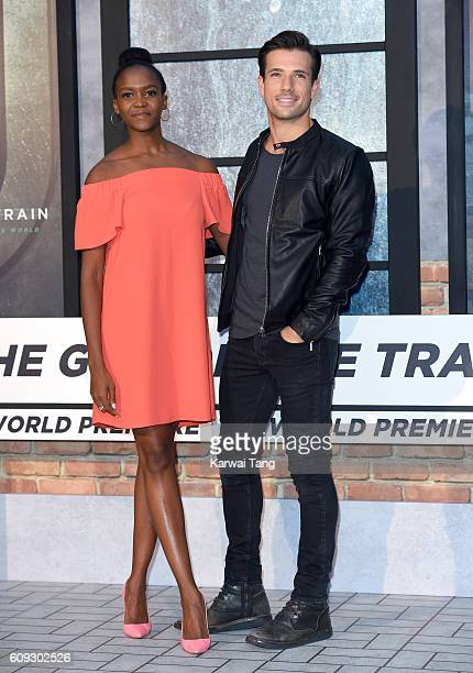 Oti Mabuse and Danny Mac attend The Girl On The Train World Premiere at Odeon Leicester Square on September 20 2016 in London England