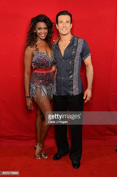 Oti Mabuse and Danny Mac attend the photocall for the 'Strictly Come Dancing' live tour at the Barclaycard Arena on January 19 2017 in Birmingham...