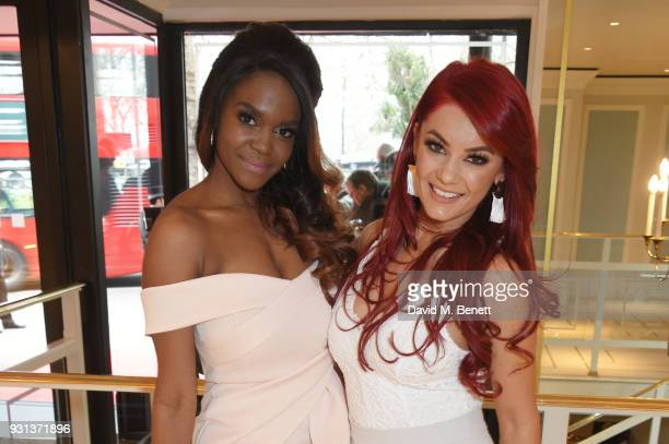 Oti Mabuse and Dianne Buswell attend the TRIC Awards 2018 held at The Grosvenor House Hotel on March 13 2018 in London England
