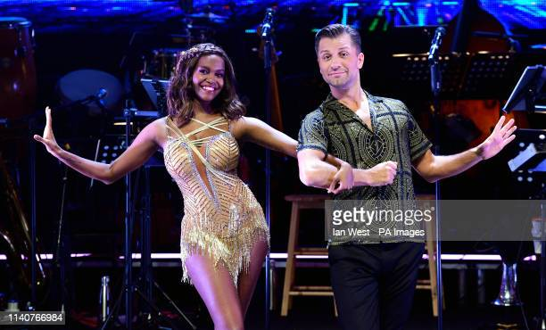 Oti Mabuse and Pasha Kovalev attending the Strictly Come Dancing Professionals UK Tour at Elstree Studios London