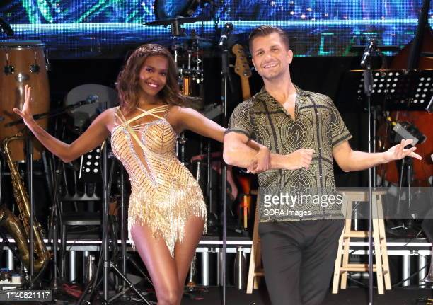 Oti Mabuse and Pasha Kovalev seen at the Strictly Come Dancing The Professionals UK Tour 2019 Photocall at Elstree Studios