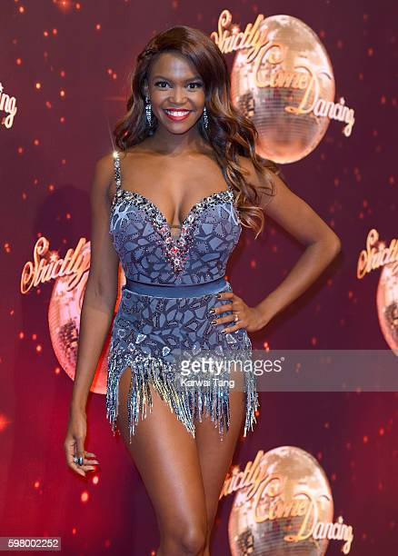 Oti Mabuse arrives for the Red Carpet Launch of 'Strictly Come Dancing 2016' at Elstree Studios on August 30 2016 in Borehamwood England