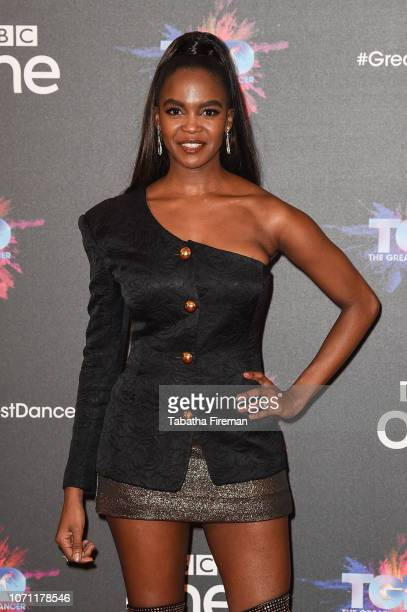 Oti Mabuse attends a photocall for the BBC's The Greatest Dancer at The May Fair Hotel on December 10 2018 in London England