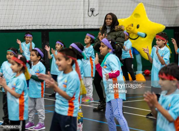 Oti Mabuse attends an All Stars Cricket session as part of the ECB's South Asian Action plan Sport England funding announcement on November 20 2018...