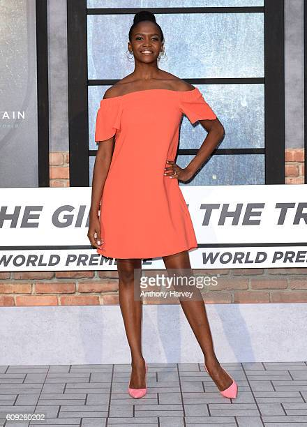 Oti Mabuse attends The Girl On The Train world premiere at Odeon Leicester Square on September 20 2016 in London England