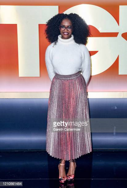 """Oti Mabuse attends """"The Greatest Dancer"""" photocall at LH2 Studios on March 05, 2020 in London, England."""