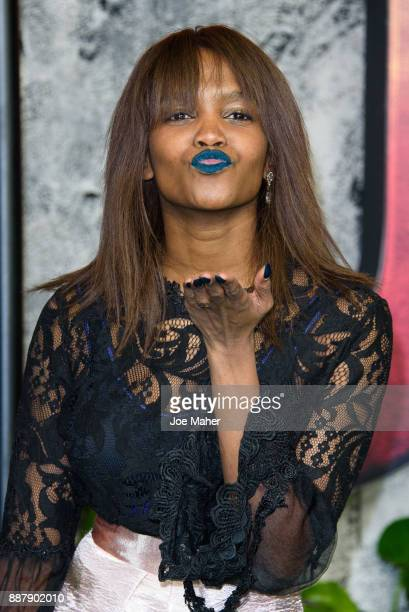 Oti Mabuse attends the 'Jumanji Welcome To The Jungle UK premiere held at Vue West End on December 7 2017 in London England