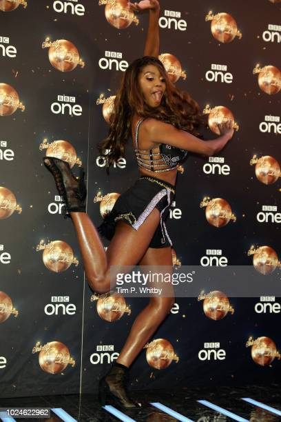 Oti Mabuse attends the red carpet launch for 'Strictly Come Dancing 2018' at Old Broadcasting House on August 27 2018 in London England