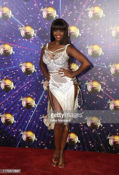 Oti Mabuse attends the Strictly Come Dancing launch show red carpet at Television Centre on August 26 2019 in London England
