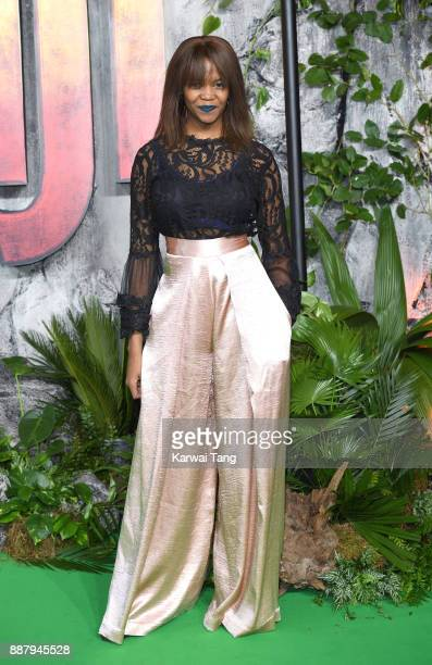 Oti Mabuse attends the UK premiere of Jumanji Welcome To The Jungle at Vue West End on December 7 2017 in London England