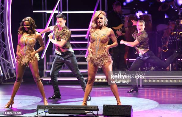 Oti Mabuse Gorka Marquez Nadiya Bychkova and Aj Pritchard attend the Strictly Come Dancing The Professionals photocall at Elstree Studios on May 02...