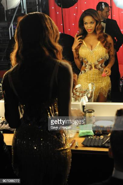 Oti Mabuse is seen backstage at the 'Strictly Come Dancing' Live dress rehearsal at Arena Birmingham on January 18 2018 in Birmingham England Ahead...