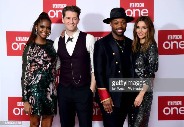 Oti Mabuse Matthew Morrison Todrick Hall and Cheryl attending The Greatest Dancer Photocall held at the Soho Hotel London