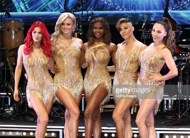 Oti Mabuse Nadiya Bychkova Dianne Buswell Karen Clifton and Katya Jones seen at the Strictly Come Dancing The Professionals UK Tour 2019 Photocall at...