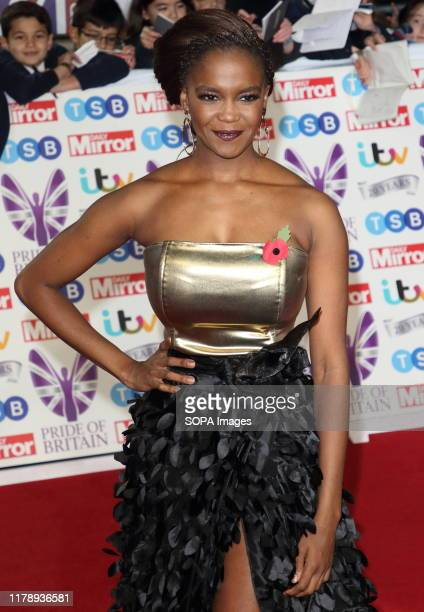 Oti Mabuse on the red carpet at The Daily Mirror Pride of Britain Awards in partnership with TSB at the Grosvenor House Hotel Park Lane