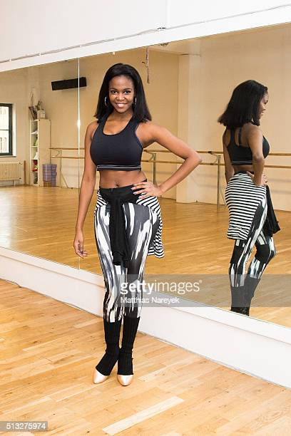 Oti Mabuse poses at a photo call for the television competition 'Let's Dance' on March 2 2016 in Berlin Germany On March 11th the show in which...