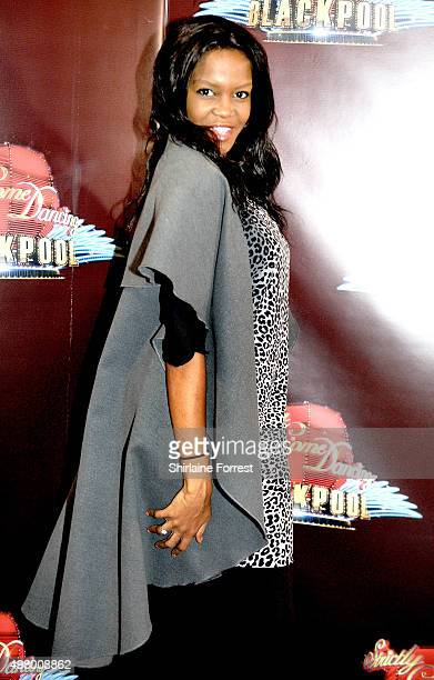 Oti Mabuse professional dancer arrives to attend a special edition of 'Stricly Come Dancing' 'Strictly Blackpool' at Tower Ballroom on November 20...