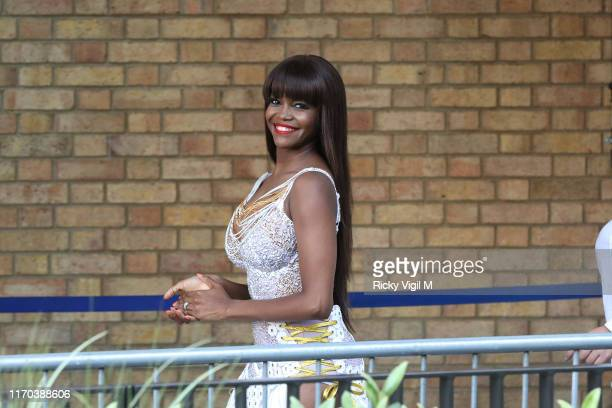 Oti Mabuse seen at Strictly Come Dancing red carpet launch show recording at Television Centre on August 26 2019 in London England