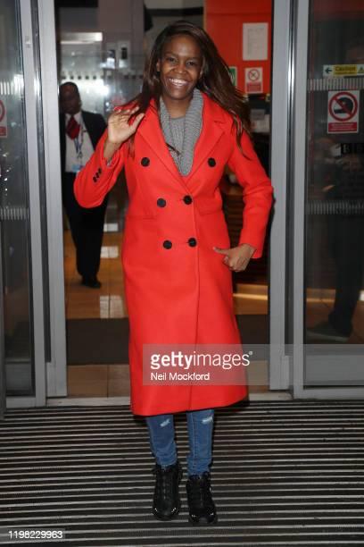 Oti Mabuse seen leaving BBC Radio 2 on January 08 2020 in London England