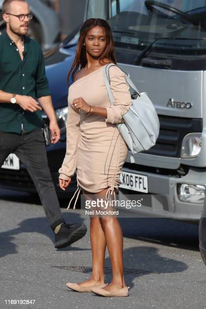 Oti Mabuse seen leaving Strictly Come Dancing 2019 rehearsals on August 20 2019 in London England
