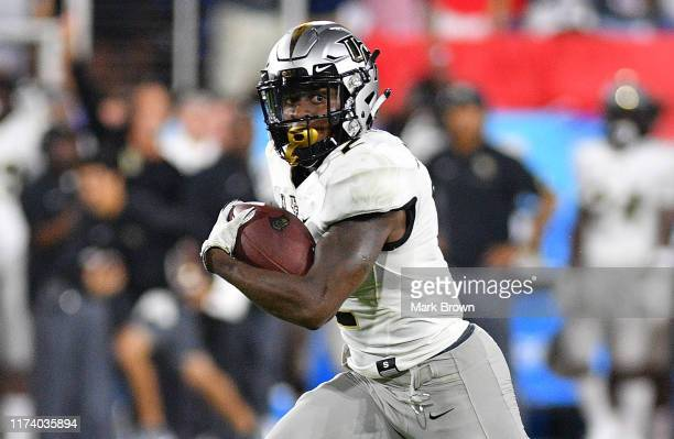 Otis Anderson of the UCF Knights in action against the Florida Atlantic Owls at FAU Stadium on September 07 2019 in Boca Raton Florida