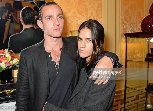 Otis Azagury Partridge and Cassie Machado attend the Solange Azagury Partridge presentation of her first menswear jewellery collection 'ALPHA' during...