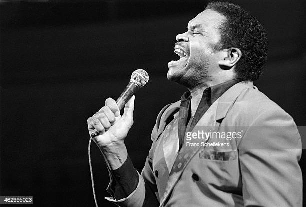 Otis Clay, vocal, performs during Memphis Soul Night at the Paradiso on 5th November 1989 in Amsterdam, the Netherlands.