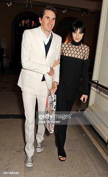 Otis Ferry and Edie Campbell attend the private view for the 'David Bowie Is' exhibition in partnership with Gucci and Sennheiser at the Victoria and...