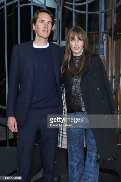 Otis Ferry and Lady Alice Manners attend the Burlington Arcade 200th anniversary dinner at Burlington Arcade on May 8 2019 in London England
