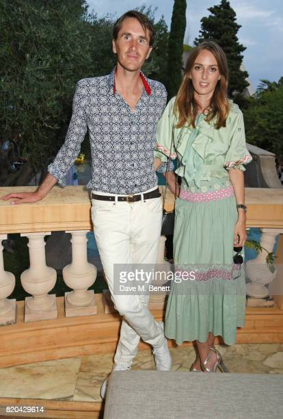 Otis Ferry and Lady Alice Manners attend the Lelloue launch party at Villa St George on July 21 2017 in Cannes France
