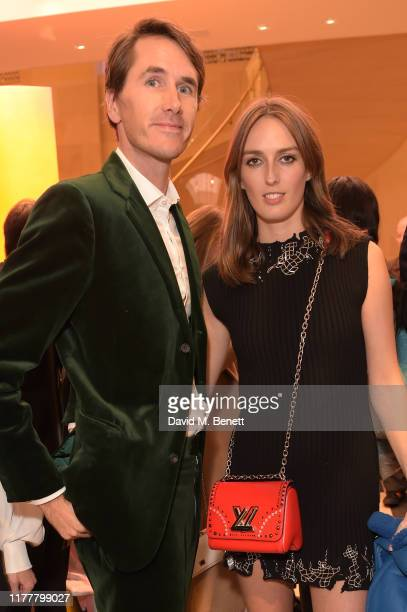 Otis Ferry and Lady Alice Manners attend the reopening of the Louis Vuitton New Bond Street Maison on October 23 2019 in London England