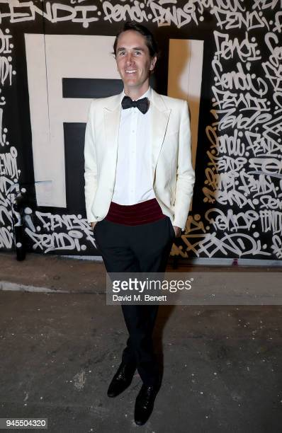 Otis Ferry attends the FENDI FF Reloaded Experience on April 12 2018 in London England