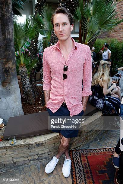 Otis Ferry attends the Villoid garden tea party hosted by Alexa Chung at the Hollywood Roosevelt Hotel on April 21 2016 in Hollywood California