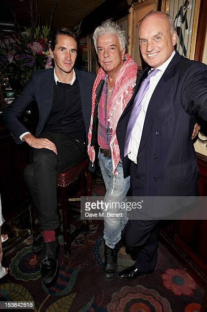 Otis Ferry, Nicky Haslam and Nicholas Coleridge attend as Nicholas Coleridge launches his new book 'The Adventuress' at Annabels on October 9, 2012...