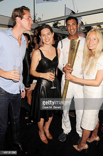Otis Ferry Pernilla Ohrstedt Asif Khan and Martha Ward attend a private cocktail party celebrating the launch of Karl Lagerfeld's collections 'KARL '...