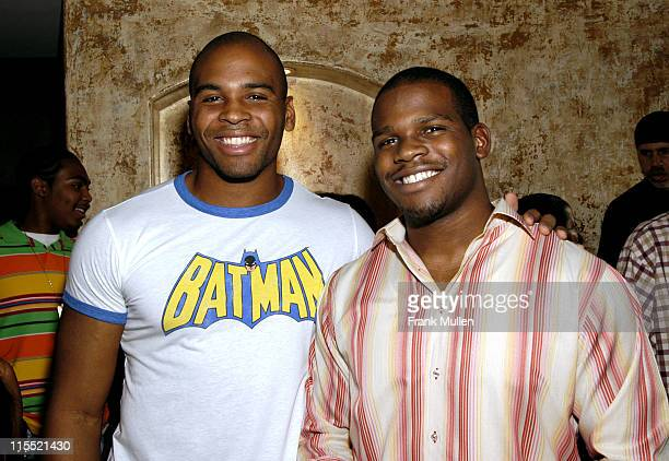 Otis Grigsby of the Atlanta Falcons with brother Zack