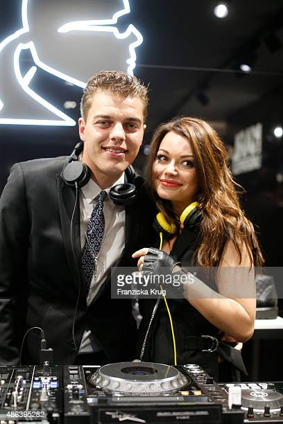 Otis Hagen and his sister Cosma Shiva Hagen alias Djane Cosmic Sista attends the Karl Lagerfeld Men's Store Opening on September 03 2015 in Berlin...