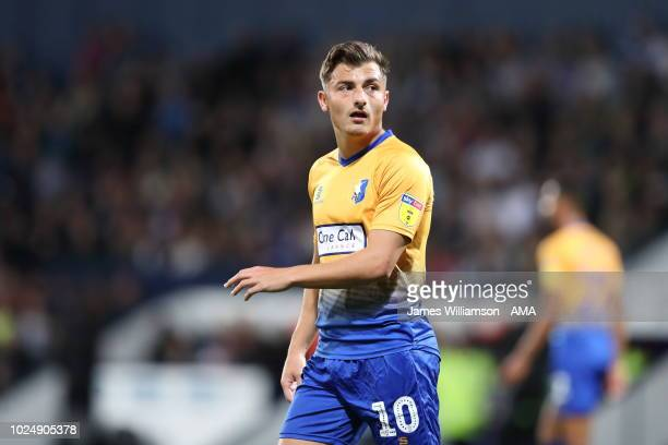 Otis Khan of Mansfield Town during the Carabao Cup Second Round match between West Bromwich Albion and Mansfield Town at The Hawthorns on August 28...