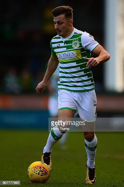 Otis Khan of Yeovil Town during the Sky Bet League Two match between Yeovil Town and Chesterfield at Huish Park on January 20 2018 in Yeovil England