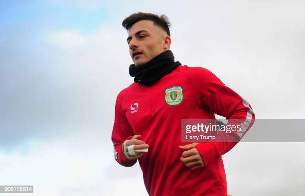 Otis Khan of Yeovil Town in action during a training session during the Yeovil Town media access day at Huish Park on January 23 2018 in Yeovil...