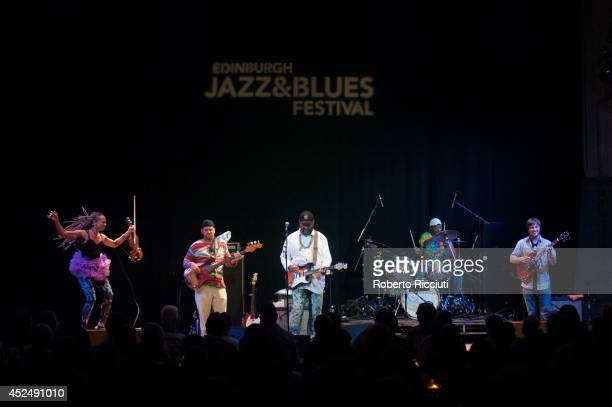 Otis Taylor performs on stage at Edinburgh Jazz Blues Festival at Queens Hall on July 21 2014 in Edinburgh United Kingdom