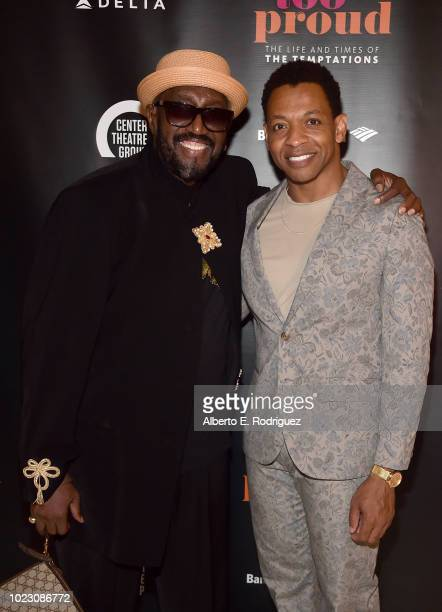 Otis Williams and Derrick Baskin attend the after party for the Opening Night of Ain't Too Proud The Life And Times Of The Temptations at the Dorothy...