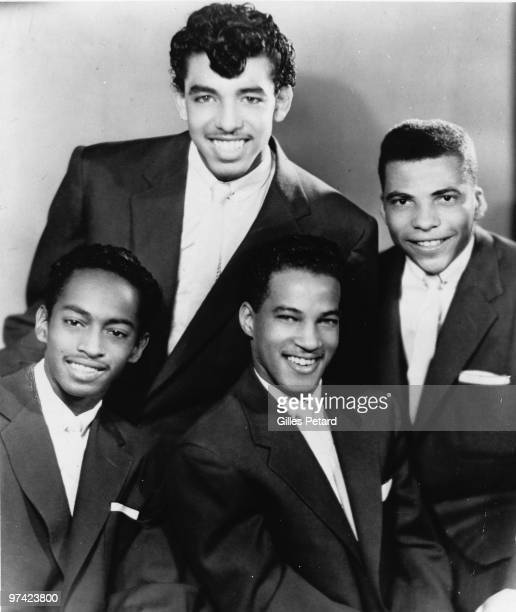 Otis Williams and His Charms pose for a studio portrait in 1955 in the United States