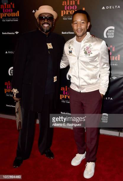 Otis Williams and John Legend attend the Opening Night of Ain't Too Proud The Life And Times Of The Temptations at the Ahmanson Theatre on August 24...