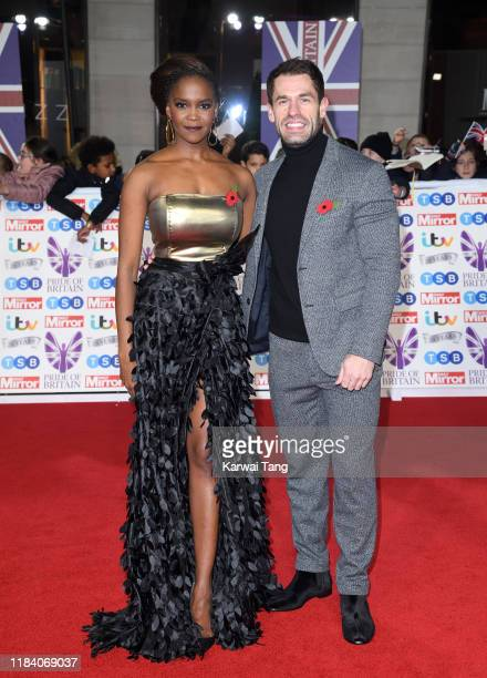 Otlile Mabuse and Kelvin Fletcher attend the Pride Of Britain Awards 2019 at The Grosvenor House Hotel on October 28 2019 in London England